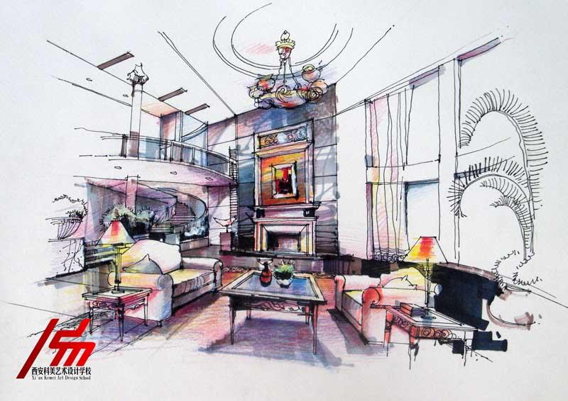 西安科美艺术设计学校 tel:029-82201326 西安室内  .
